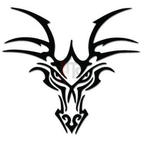 Tribal Dragon Head Decal Sticker Style 1
