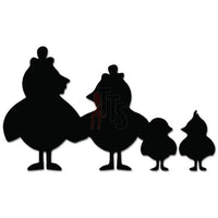 Chicken Family Farm Baby Chicks Decal Sticker Style 1