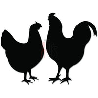 Chicken Rooster Couple Farm Decal Sticker
