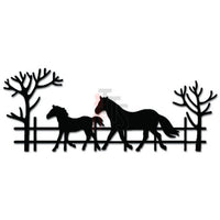 Horse Mom Baby Farm Ranch Decal Sticker