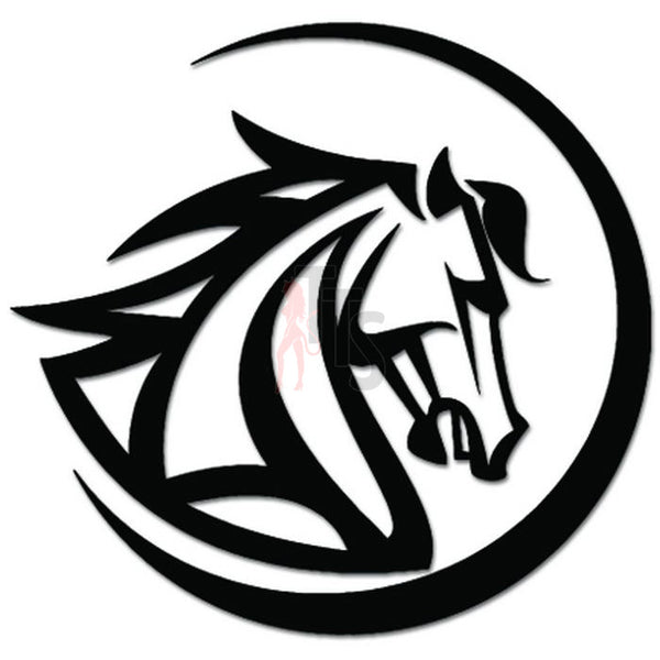 Tribal Horse Head Decal Sticker Style 2
