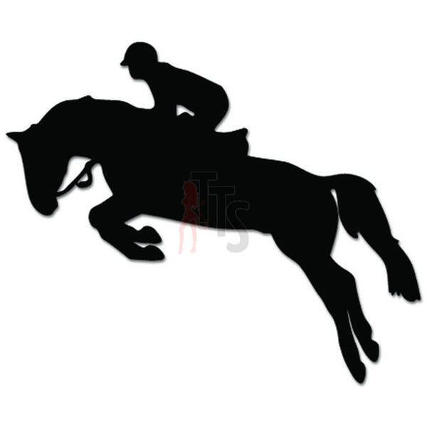 Horse Jumping Riding Equestrian Decal Sticker Style 1
