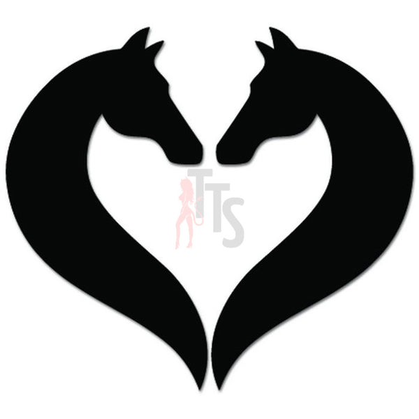 Horse Heart Love Farm Lover Decal Sticker Style 1