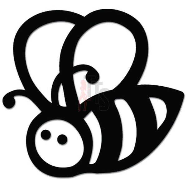 Cute Bee Honey Decal Sticker Style 1