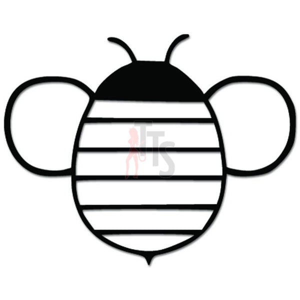 Cute Bee Honey Decal Sticker Style 2