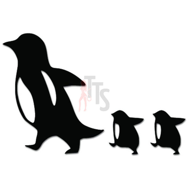 Penguin Family Mom Baby Bird Decal Sticker Style 1