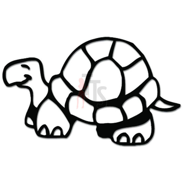 Cute Turtle Tortoise Walking Decal Sticker
