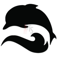 Dolphin Fish Jumping Wave Decal Sticker
