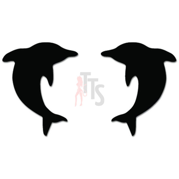 Dolphins Fish Jumping Decal Sticker