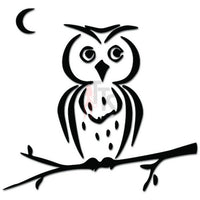 Cute Owl Bird Tree Branch Moon Decal Sticker