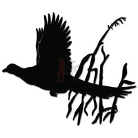 Flying Pheasant Bird Hunting Decal Sticker