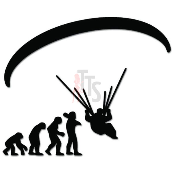 Ape Men Evolution Of Skydiving Decal Sticker