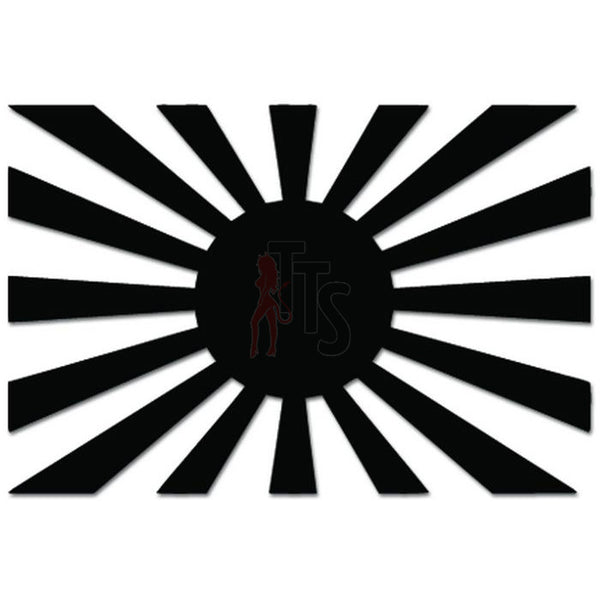 Japan Rising Sun Flag JDM Japanese Decal Sticker Style 2