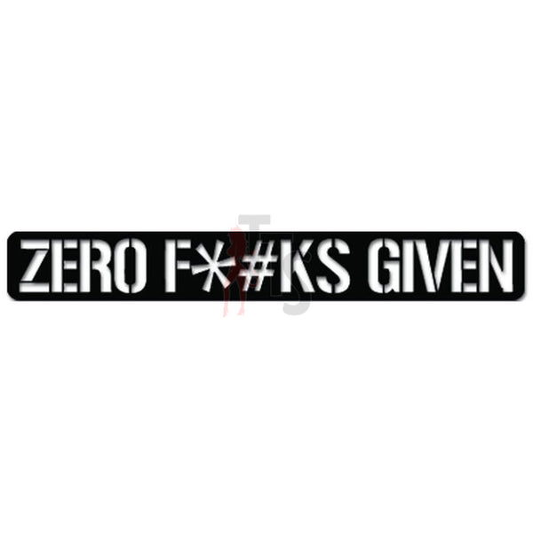 Zero Fuks Given JDM Japanese Decal Sticker