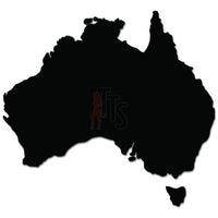 Australia Country Map Decal Sticker
