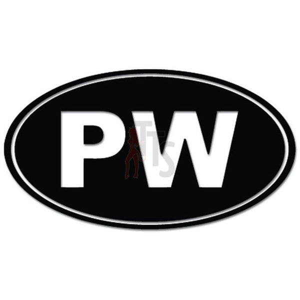 Palau Islands PW Oval Decal Sticker