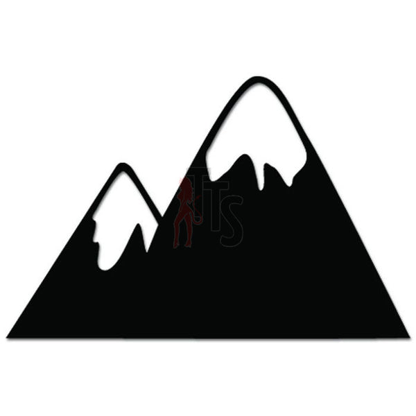 Snow Cap Mountains Outdoors Decal Sticker Style 1