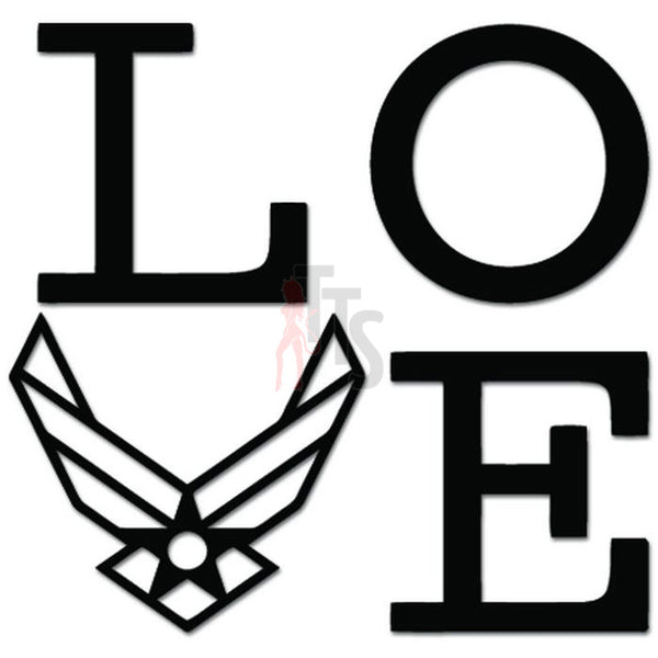 Love Airforce Military Army Emblem Decal Sticker