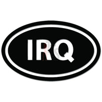 IRQ Oval Iraq Military Deployment Decal Sticker