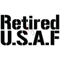 Retired USAF Air Force Veteran Military Decal Sticker