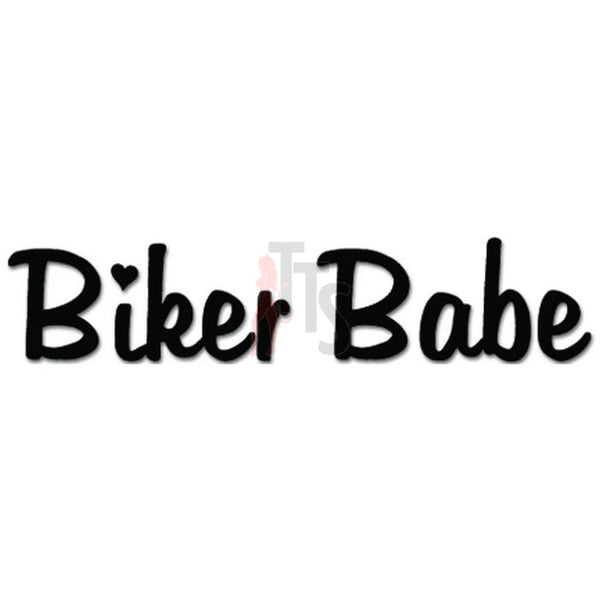 Biker Babe Motocycle Motorbike Decal Sticker