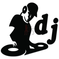 DJ Disc Jockey Turntable Techno Dance Music Decal Sticker