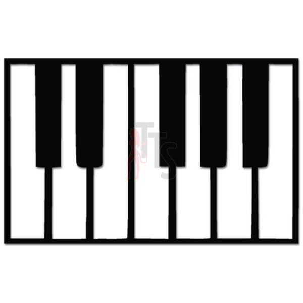 Piano Keys Keyboard Classical Music Decal Sticker