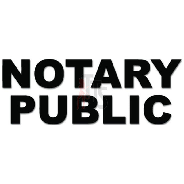Notary Public Law Job Decal Sticker