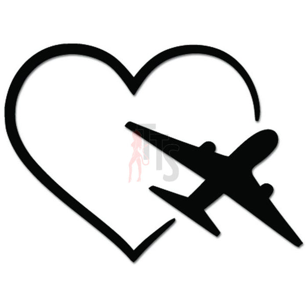 Airplane Pilot Jet Love Flying Job Decal Sticker