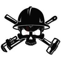 Roughneck Oil Pipeline Death Skull Job Decal Sticker