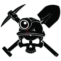 Coal Miner Death Skull Tools Job Decal Sticker