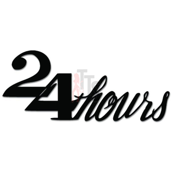 24 Hours Open Sign Decal Sticker