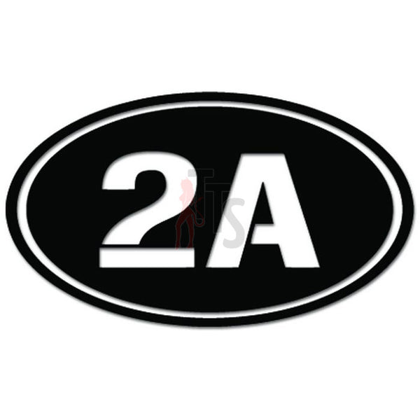2A Oval 2nd Amendment Decal Sticker