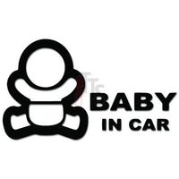 Baby in Car Decal Sticker Sticker Style 6