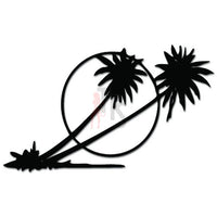 Beach Palm Trees Decal Sticker Style 1