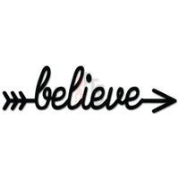 Believe Arrow Target Goal Decal Sticker