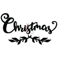 Christmas Mistletoe Holiday Decal Sticker