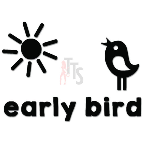 Early Bird Morning Sunshine Decal Sticker