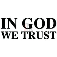 In God We Trust Decal Sticker Style 1