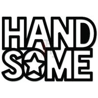 Handsome Word Guy Decal Sticker