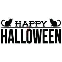 Happy Halloween Cats Decal Sticker