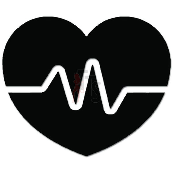 Heart EKG Lifeline Love Doctor Decal Sticker Style 1