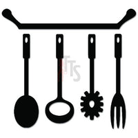 Kitchen Utensil Cook Chef Decal Sticker