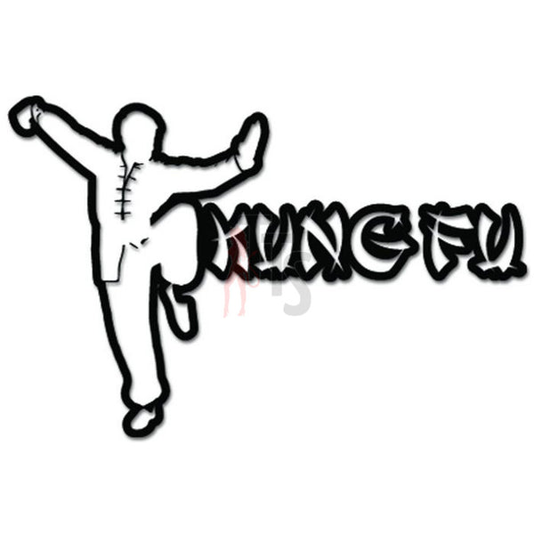 Kung Fu Martial Artist Chinese Decal Sticker
