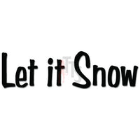 Let It Snow Winter Decal Sticker