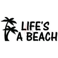 Life's A Beach Palm Trees Decal Sticker