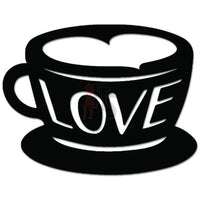 Love Coffee Cup Caffeine Decal Sticker Style 1