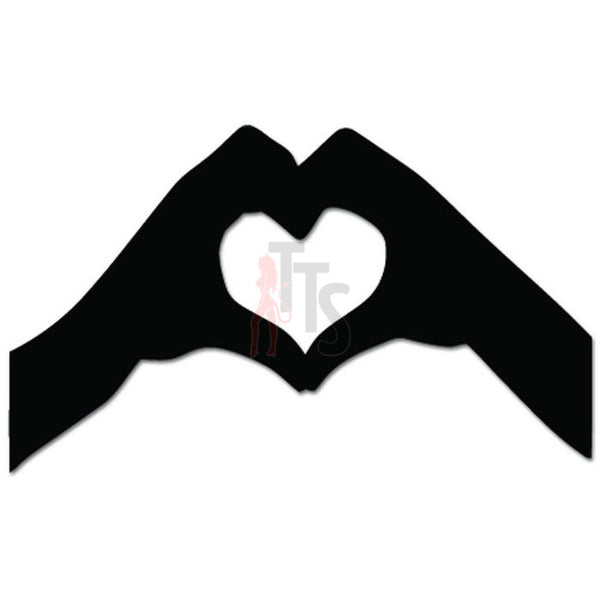 Hands Heart Shape Love Decal Sticker