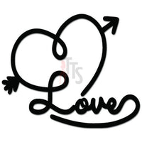 Love Heart Arrow Aim Target Decal Sticker