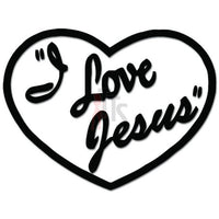 I Love Jesus Christian Heart Decal Sticker